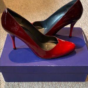 Stuart Weitzman Red high heeled shoes!